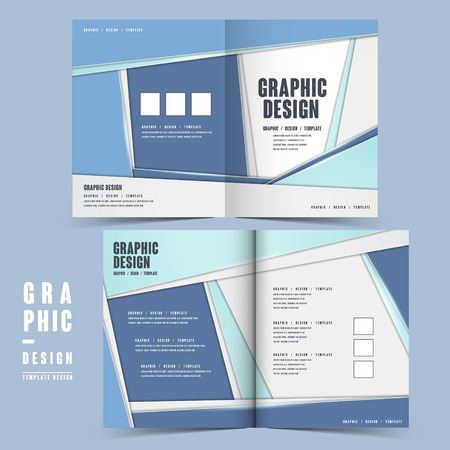 intro: simplicity brochure template design in blue and white