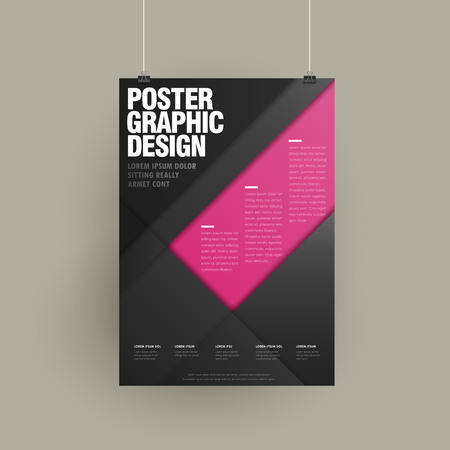 modern brochure template design with geometric elements