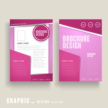 clean cut: contemporary brochure template design in pink and white