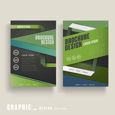 contemporary design: contemporary brochure template design in green and black