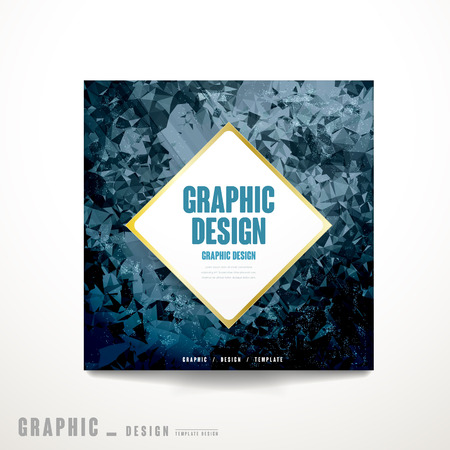 lavish: lavish brochure template design with polygon background Illustration