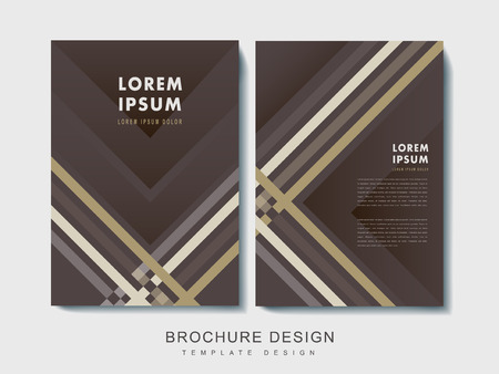 plaid pattern: elegant brochure template design with plaid pattern