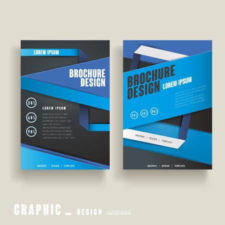 clean cut: modern brochure template design in blue and black