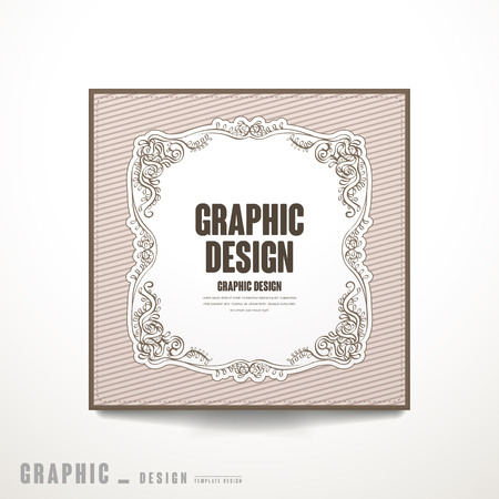 intro: graceful brochure template design with exquisite frame