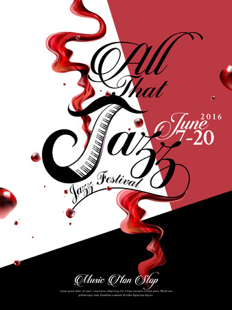 jazzy: All that jazz - music event poster design