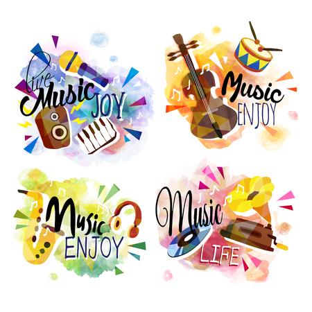 Lments colorés ensemble de la musique et de l'instrument Banque d'images - 60839298
