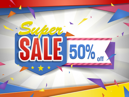 bargain: Cheerful bargain sale poster design with discount label