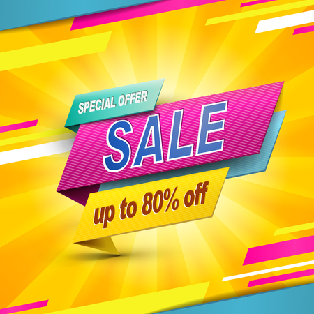 bargain sale: Modern bargain sale poster design with discount label