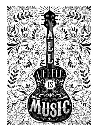 music concept illustration for poster or decoration