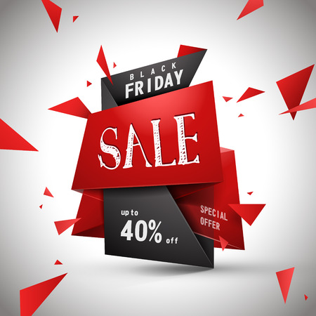 Modern bargain sale poster design with discount label