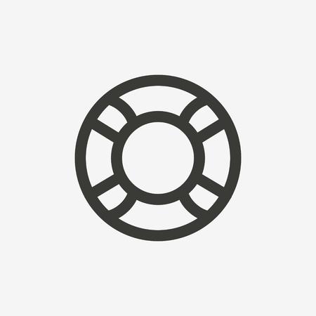 lifeline icon of brown outline for illustration