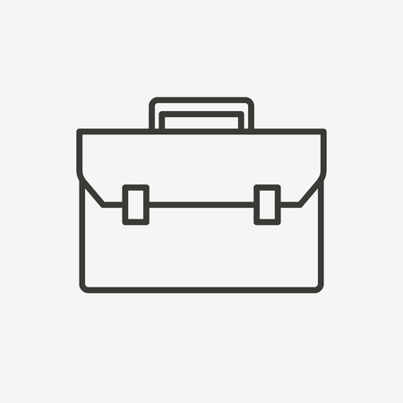job icon: icon of business briefcase Illustration