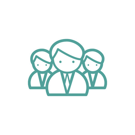medical team: Medical team thin line icon isolated on beige background Illustration
