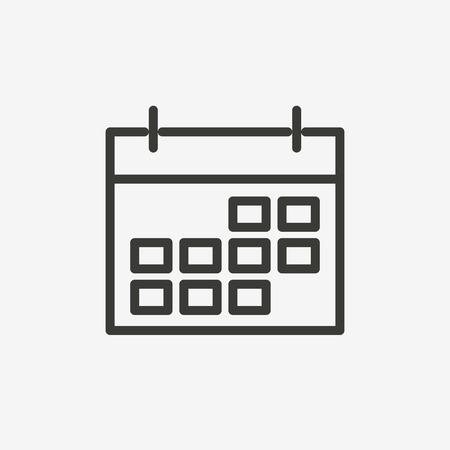 Calendario icona del contorno marrone per l'illustrazione Archivio Fotografico - 62022445