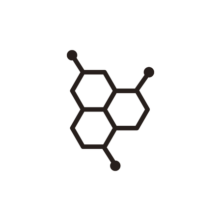 organic chemistry: Chemistry thin line icon isolated on beige background