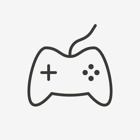 internet buttons: game icon of brown outline for illustration