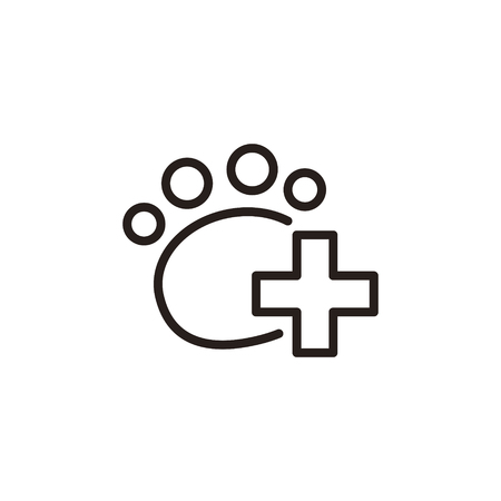 veterinary care: Veterinary care thin line icon isolated on beige background