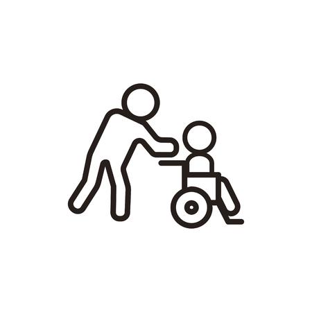 Disabled thin line icon in dark brown color 版權商用圖片 - 62023689