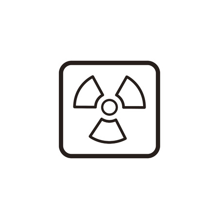 ionizing radiation risk: Ionizing radiation thin line icon in dark brown color