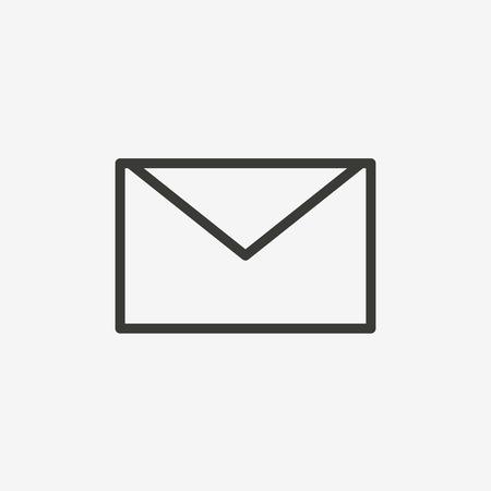 envelope icon: envelope icon of brown outline for illustration