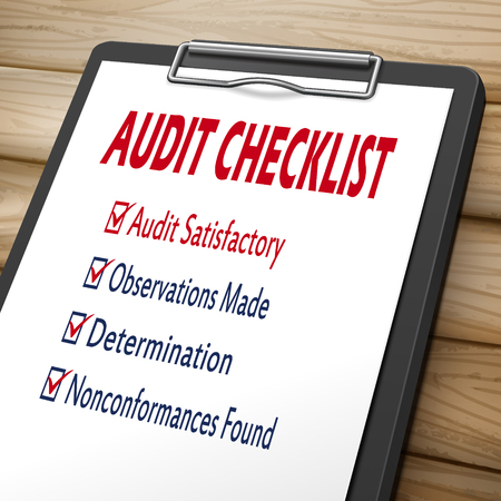 marked boxes: audit checklist clipboard 3D image with check boxes marked for related concepts