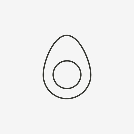 brown egg: egg icon of brown outline for illustration Illustration