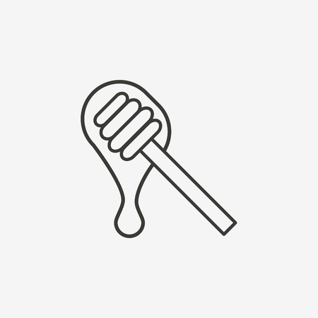 starving: honey icon of brown outline for illustration