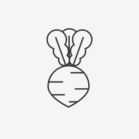 vegetable cook: carrot icon of brown outline for illustration