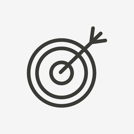 arrow circles: target icon of brown and thin outline Illustration