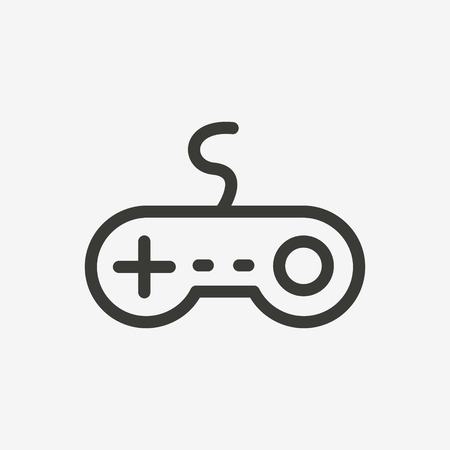 Game Icon Of Brown Outline For Illustration Royalty Free Cliparts - Game outline