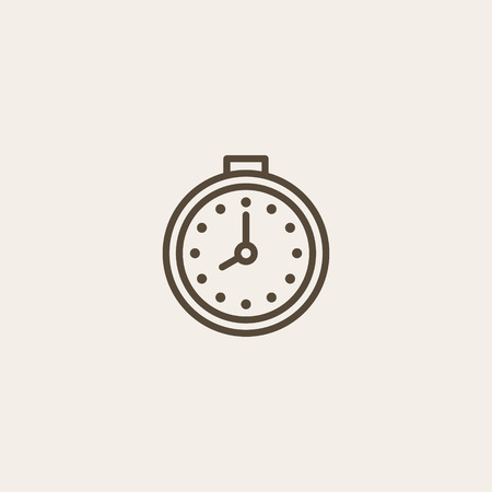 webpage: Stopwatch icon of brown outline for webpage