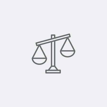 grey scale: Justice scale icon of grey outline for webpage