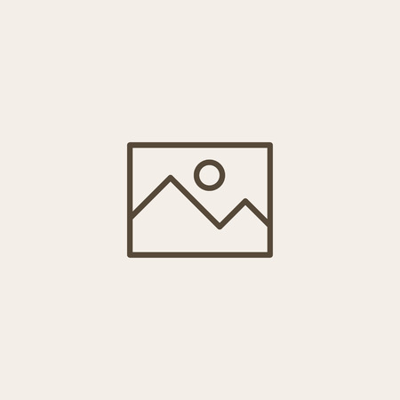 photo icon: blank photo icon of brown outline for webpage
