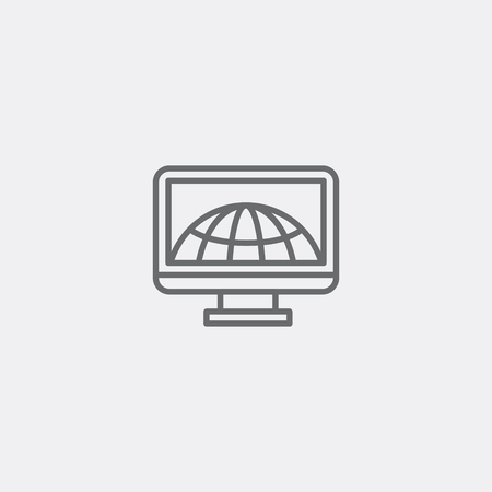 webpage: Internet sign icon of grey outline for webpage
