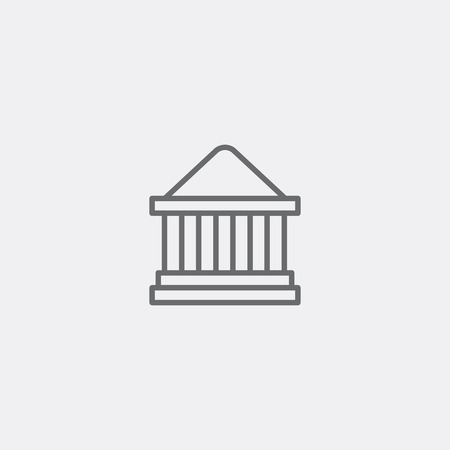 Bank, Court house icon of grey outline for webpage 向量圖像