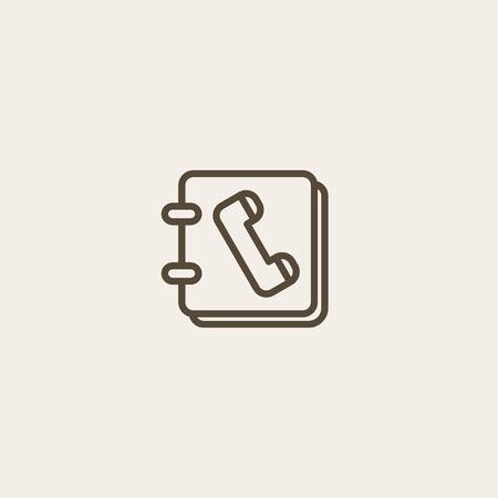 directorio telefonico: icono del directorio telef�nico del esquema marr�n de la p�gina