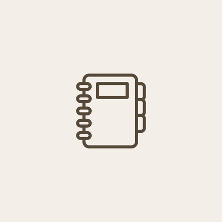 record office: document icon of brown outline for webpage Illustration