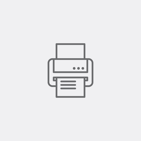 fax and print icon in grey outline