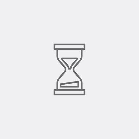 icono de carga de contorno gris para la ilustración