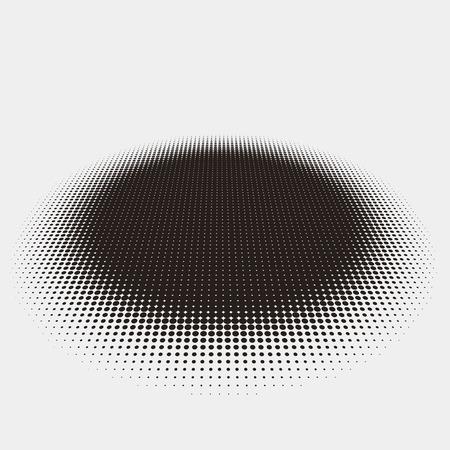 Design pattern astratto con elemento circolare piatta punteggiato mezzitoni
