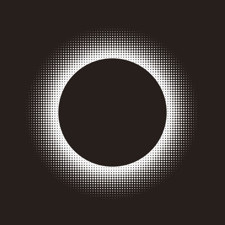 ring tones: Mysterious pattern design with circular dotted halftone element