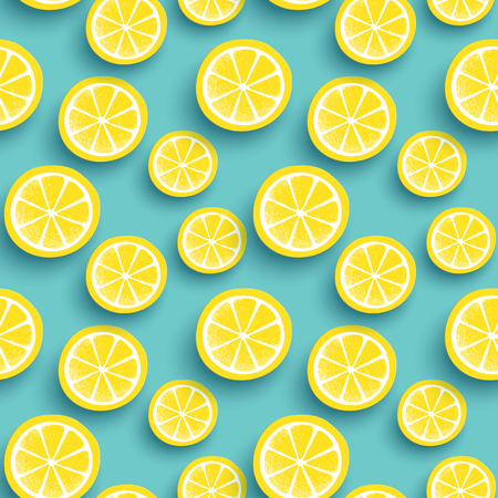 fruit background: Sunkist seamless pattern, lovely sliced fruit background