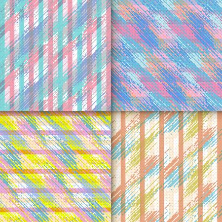 Elegant background pattern design set with colorful geometric elements Illustration