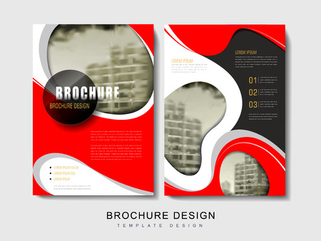 Flyer or Cover Design with blurred city landscape and abstract geometric elements
