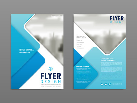 simplicity: Simplicity flyer design, blurred city landscape with geometric elements Illustration