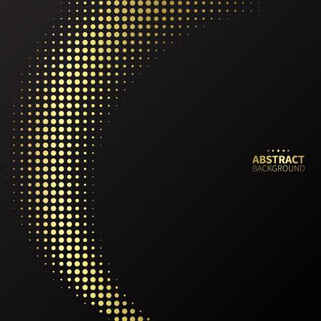 phantom: Luxury golden dotted pattern on black background. Curve lines.