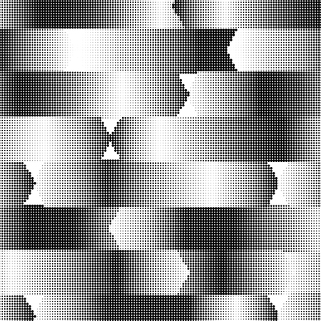 textured effect: Abstract dotted pattern design on white background. Arrow shape.