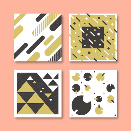 splendid: collections of geometric patterns with similiar styles and same colors
