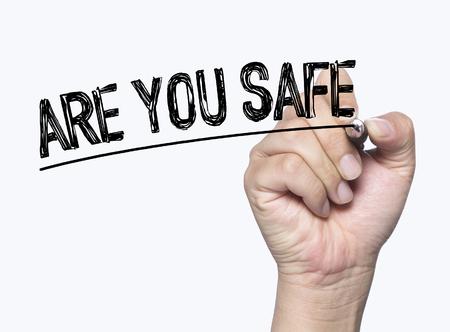 당신은 손으로 쓰는 것이 안전합니까? 투명 판에 손으로 쓰는가, 사진인가? 스톡 콘텐츠