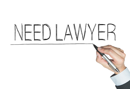 in need of space: need lawyer written by hand, hand writing on transparent board, photo
